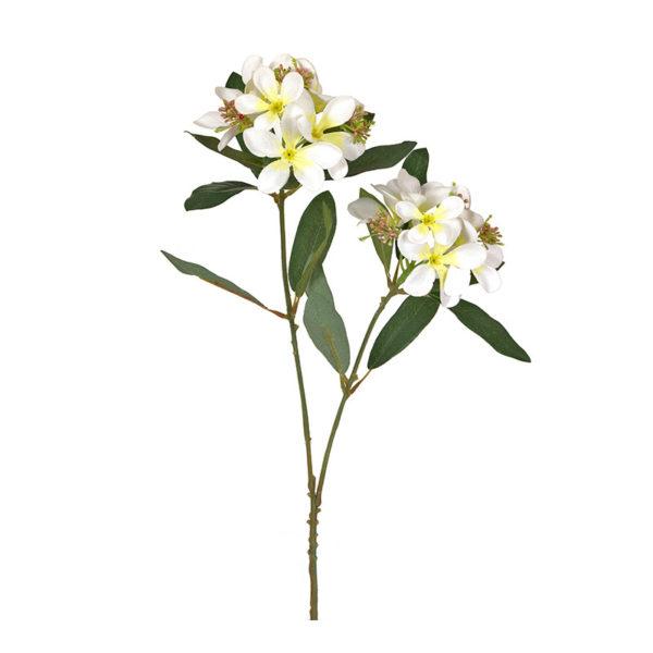 Κλαδί Υφασμάτινο Με Άνθη Πικροδάφνης Λευκό/ Κίτρινο Υ77