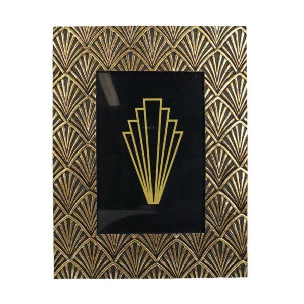 Κορνίζα Αντικέ Χρυσό Art Deco 'Okay' Για 10x15 | ZAROS