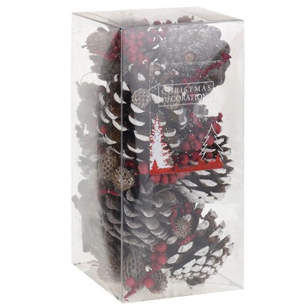 Κουτί Με Ανάμεικτα Φυσικά Υλικά Κουκουνάρι/ Πεύκο/ Βελανίδι/ Γκι Υ20