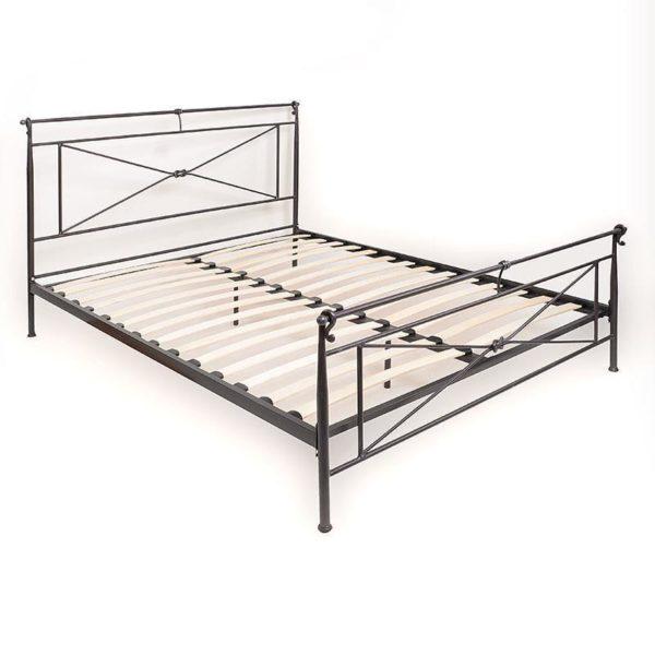 Κρεβάτι Μεταλλικό Διπλό Μαύρο Μ160 Π200