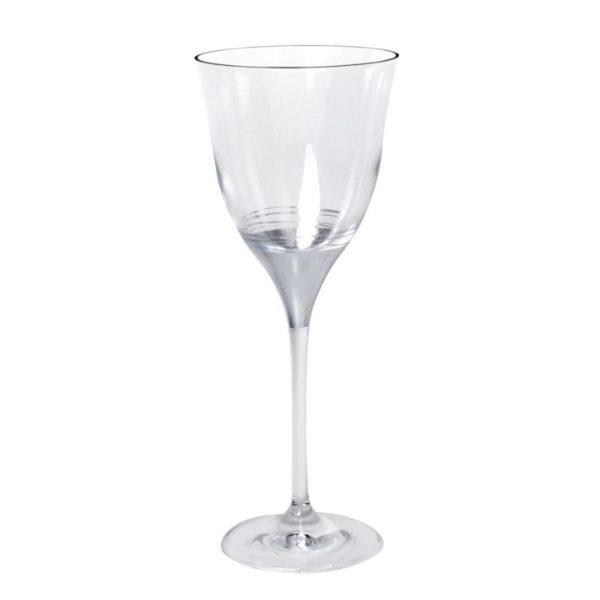 Κρυστάλλινο Ποτήρι Κρασιού Διακοσμημένο Με Φύλλα Πλατίνας 330ml