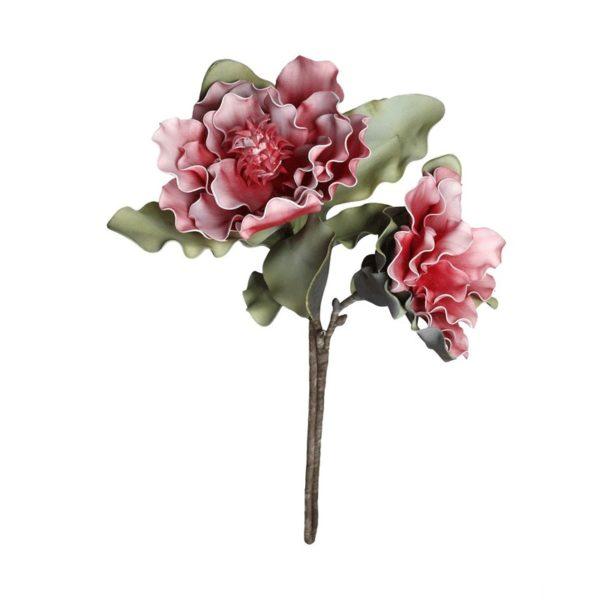 Λουλούδι Υφασμάτινο Διπλό Ροζ