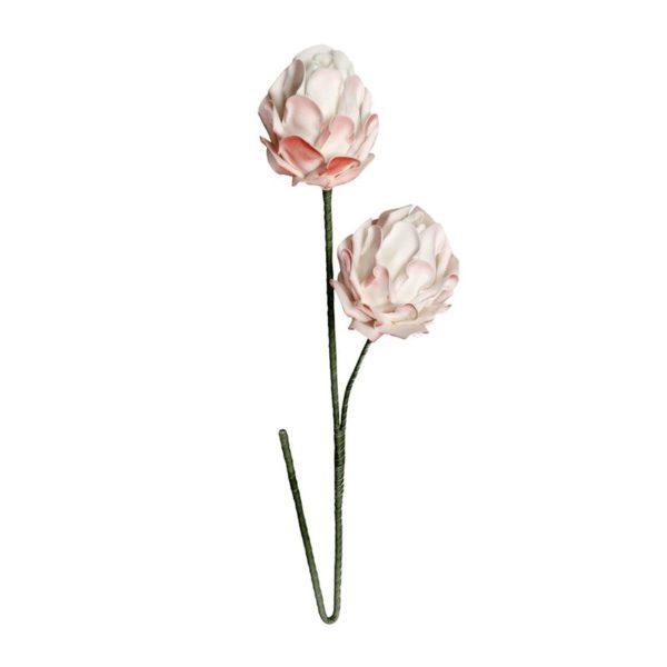 Λουλούδι Υφασμάτινο Διπλό Σομόν