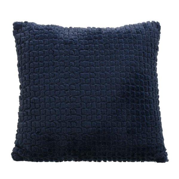 Μαξιλάρι Με Υφή Γούνας Μπλε 40x40, Inart