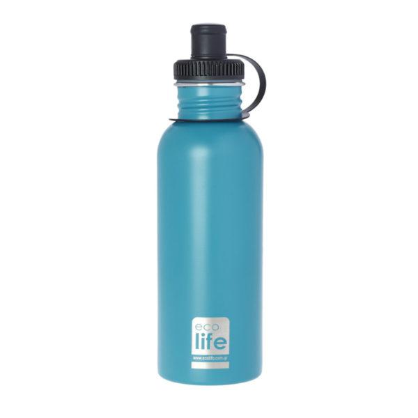 Μεταλλικό Ανοξείδωτο Μπουκάλι Aqua 600ml