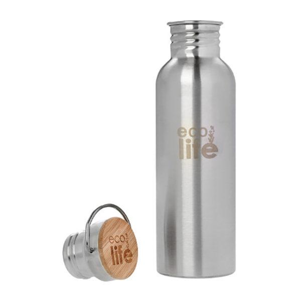Μεταλλικό Ανοξείδωτο Μπουκάλι Bamboo - Silver 750ml