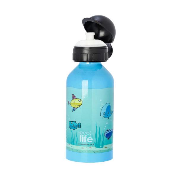 Μεταλλικό Ανοξείδωτο Μπουκάλι Fish 500ml