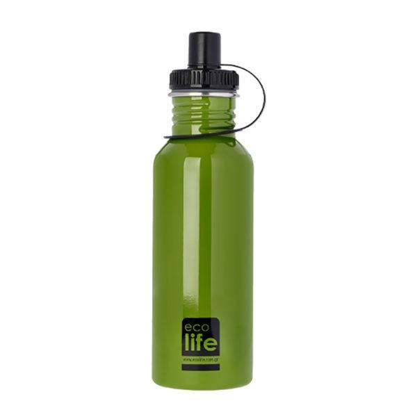 Μεταλλικό Ανοξείδωτο Μπουκάλι Green 600ml
