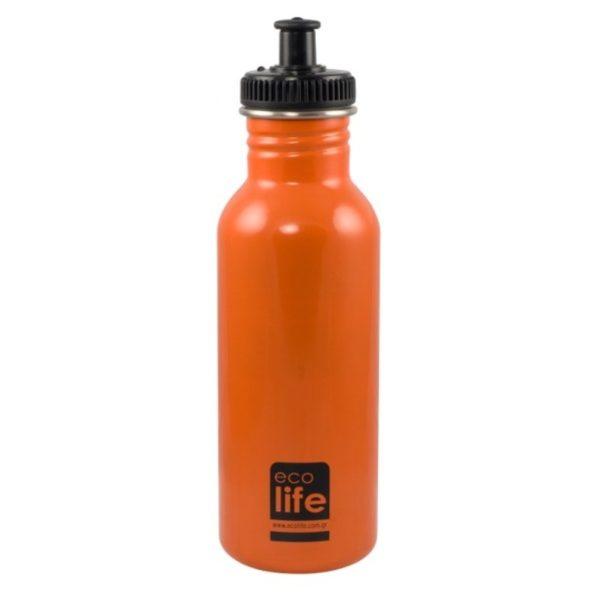 Μεταλλικό Ανοξείδωτο Μπουκάλι Orange 600ml