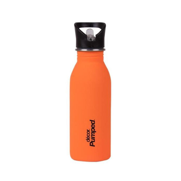 Μεταλλικό Ανοξείδωτο Μπουκάλι Πορτοκαλί 500ml