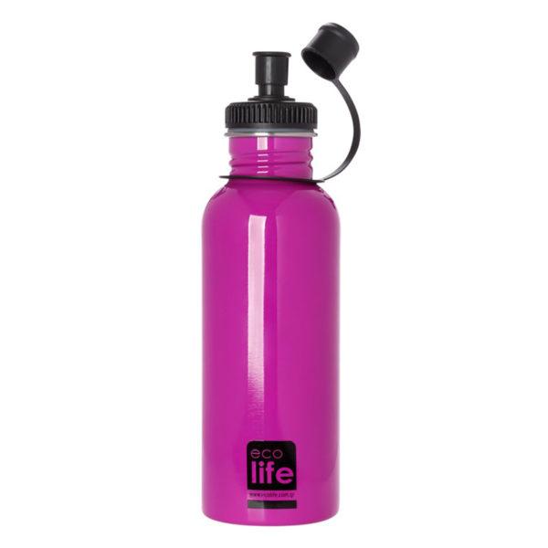 Μεταλλικό Ανοξείδωτο Μπουκάλι Ροζ 600ml
