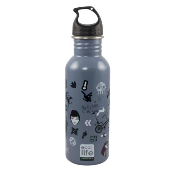 Μεταλλικό Ανοξείδωτο Μπουκάλι Trends 600ml