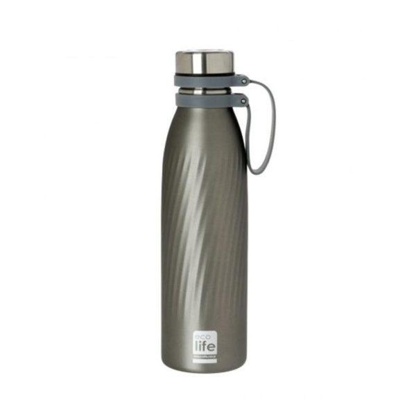 Μεταλλικό Μπουκάλι Θέρμος Από Ανοξείδωτο Ατσάλι Cool Grey 500ml