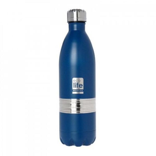 Μεταλλικό Μπουκάλι Θέρμος Family Μπλε 1lt