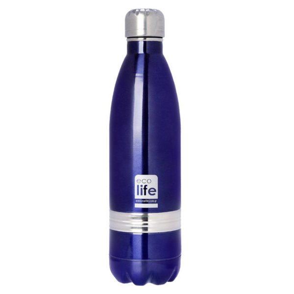 Μεταλλικό Μπουκάλι Θερμός Family Μωβ 750ml