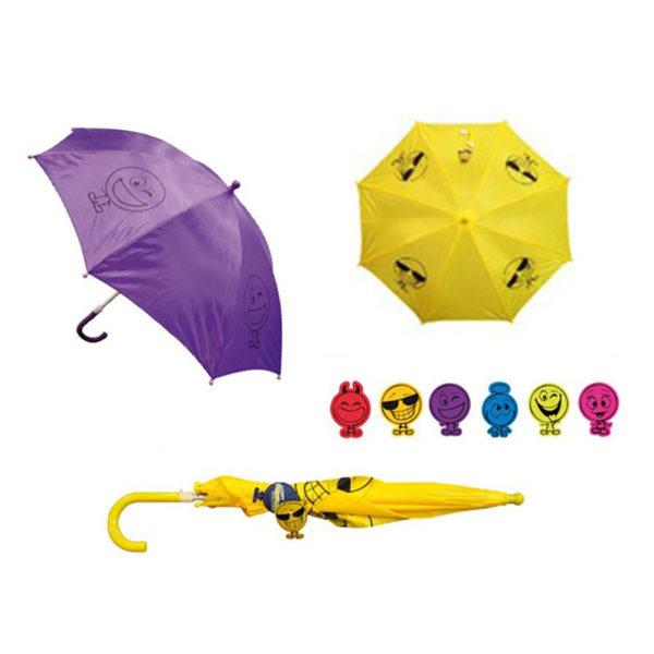 Ομπρέλα Παιδική Κίτρινη Φατσούλα