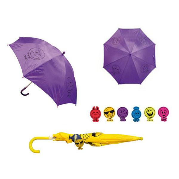 Ομπρέλα Παιδική Μωβ Φατσούλα