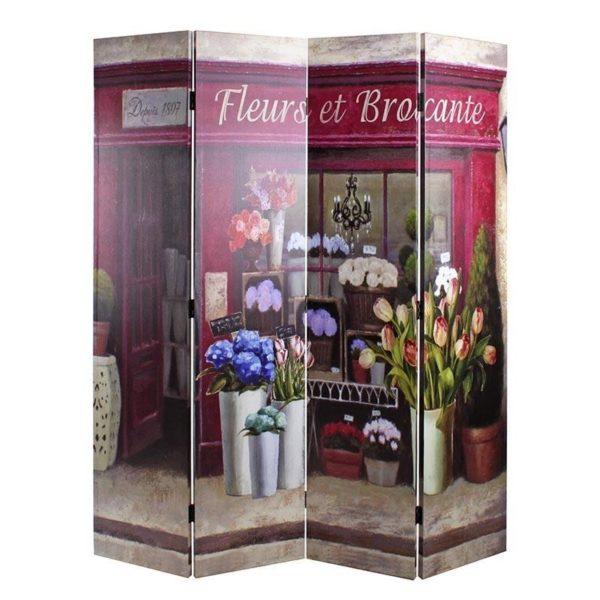 Παραβάν Σε Καμβά ''Fleurs Et Brocante''