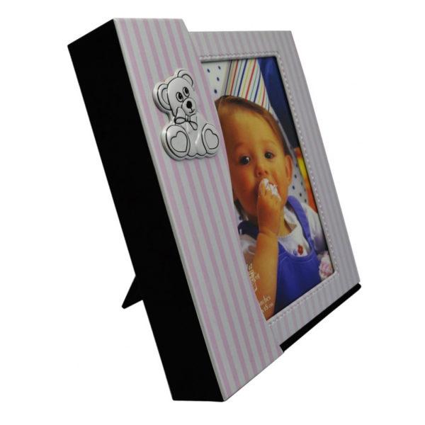 Παιδικό Άλμπουμ Φωτογραφιών Σε Φωτογραφοθήκη, Ροζ Ρίγα Αρκουδάκι Για 13x18