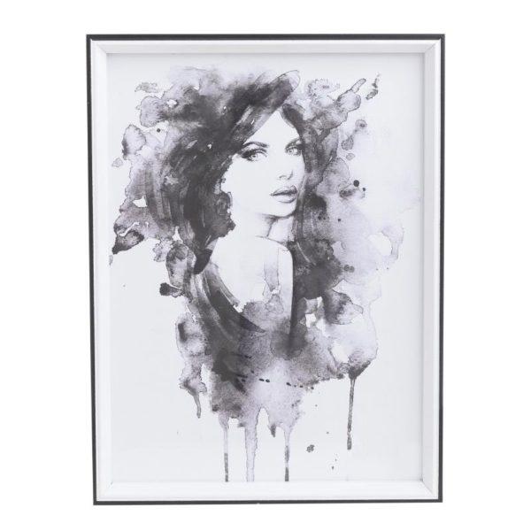 Πινακάκι Λευκό Με Μαύρη Κορνίζα 'Γυναικεία Φιγούρα' 30x40