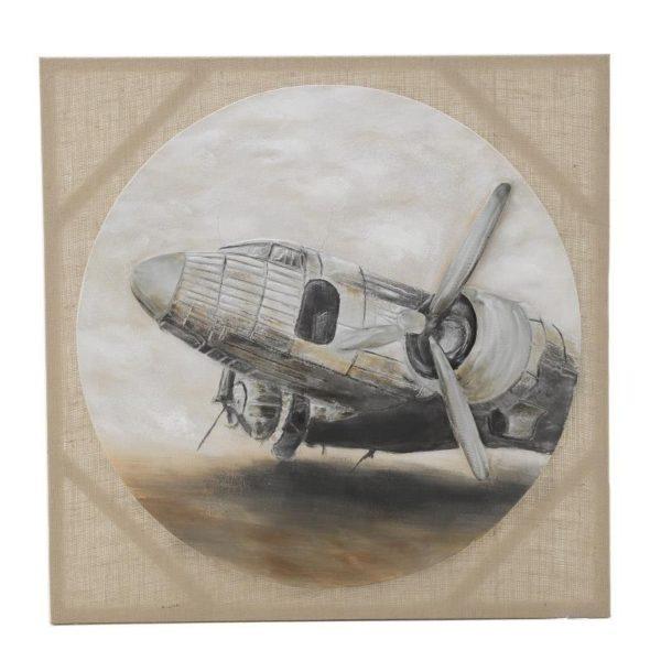 Πίνακας Σε Καμβά 'Ελικόπτερο' 80x80, Inart