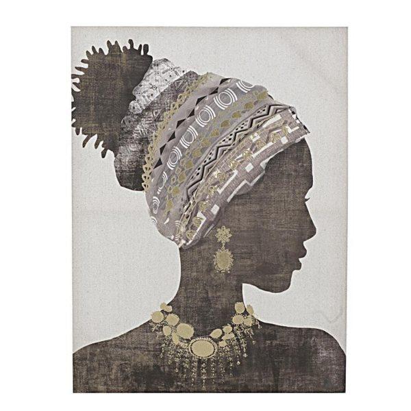 Πίνακας Σε Καμβά Γυναικεία Φιγούρα 'Africa' 60x80, A