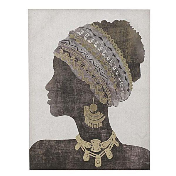 Πίνακας Σε Καμβά Γυναικεία Φιγούρα 'Africa' 60x80, B