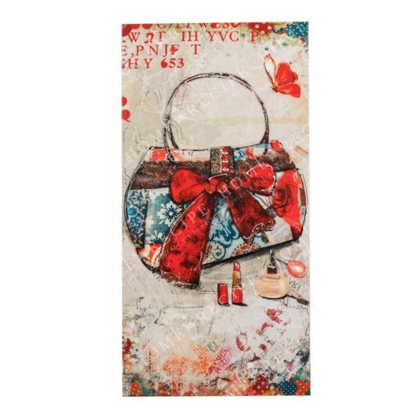 Πίνακας Σε Καμβά 'Γυναικεία Τσάντα' 40x3.5x80