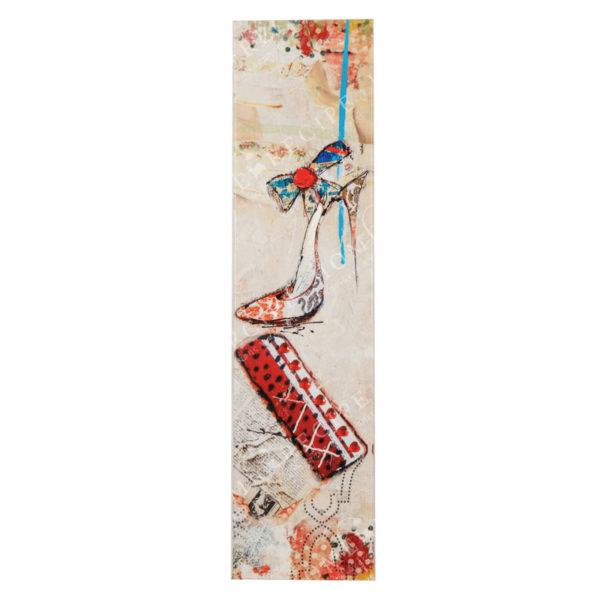 Πίνακας Σε Καμβά 'Γυναικεία Τσάντα Με Γοβάκι' 15x3.5x60