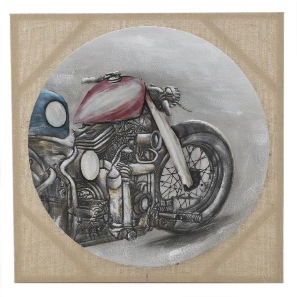Πίνακας Σε Καμβά 'Μοτοσυκλέτα' 80x80, Inart
