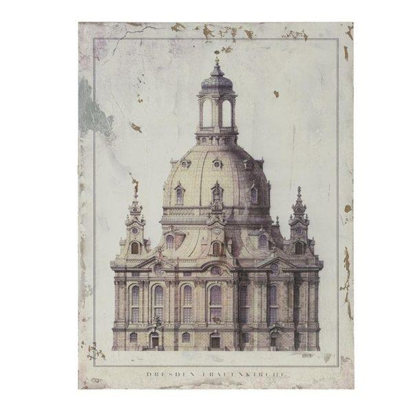 Πίνακας Ξύλινος 'Dresden Frauenkirche' 60x80 Inart