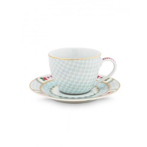 PIP Φλυτζάνι Και Πιατάκι Espresso 'Blushing Birds' Λευκό/ Γαλάζιο 120ml