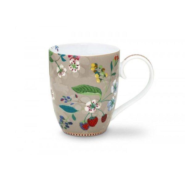 PIP Κούπα 'Hummingbirds' Floral Χακί XL 450ml