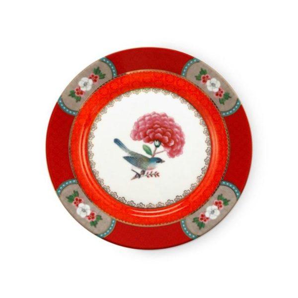 PIP Πιάτο 'Blushing Birds' Κόκκινο Δ17
