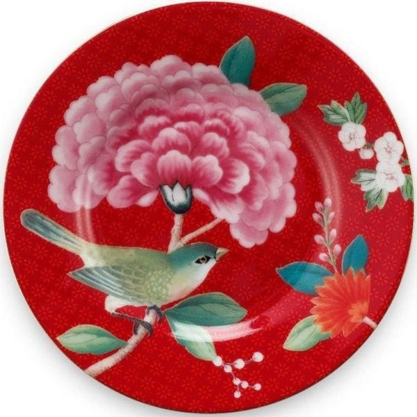 PIP Πιάτο Petit Four 'Blushing Birds' Κόκκινο Δ12