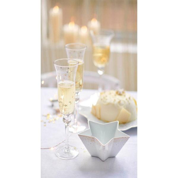 PIP Ποτήρι Κρασιού Με Χρυσά Αστεράκια 'Royal Christmas'