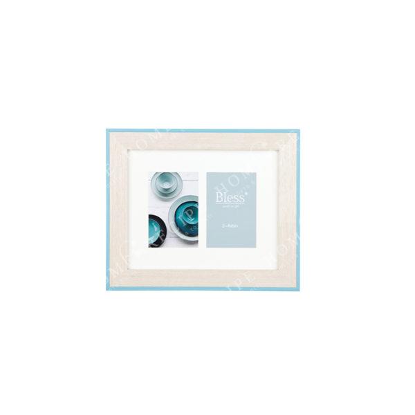 Πολυκορνίζα Ξύλινη 2θέσια Μπεζ Με Γαλάζιο Ρέλι Για 10x15