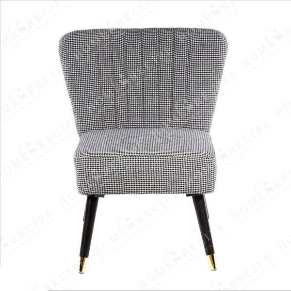 Πολυθρόνα Υφασμάτινη Πτι Καρό, Με Μαύρα/ Χρυσά Πόδια