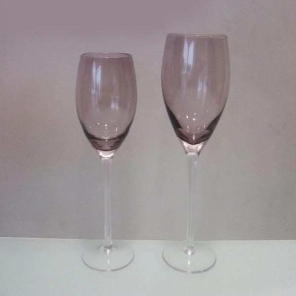 Ποτήρι Φυσητό Κρασιού Με Πόδι 6 Τεμαχίων Irid Μωβ