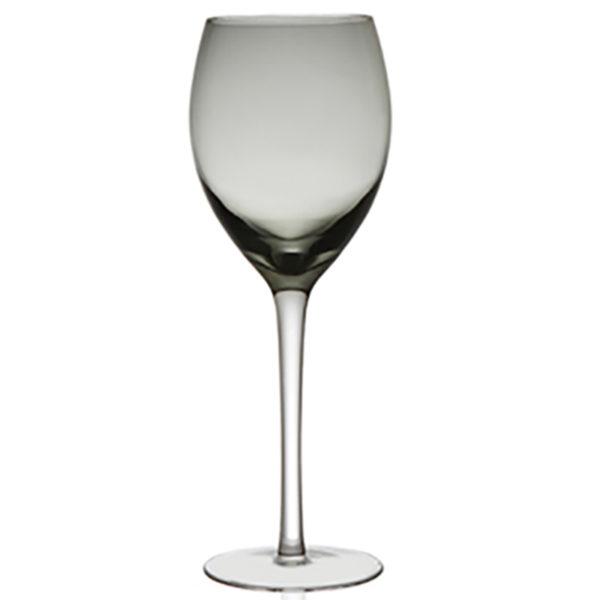 Ποτήρι Φυσητό Κρασιού Με Πόδι Irid Smoke