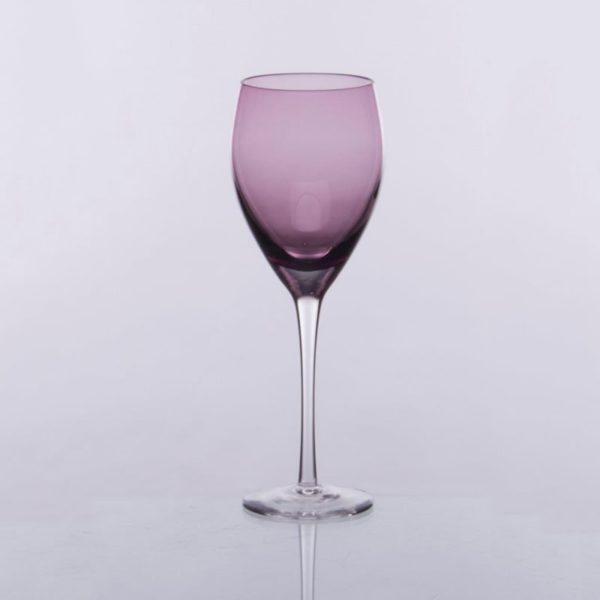 Ποτήρι Φυσητό Νερού Με Πόδι 6 Τεμαχίων Irid Μωβ