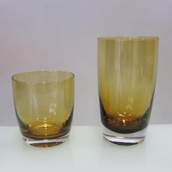 Ποτήρι Ουίσκι Φυσητό 6 Τεμαχίων Irid Amber Μελί