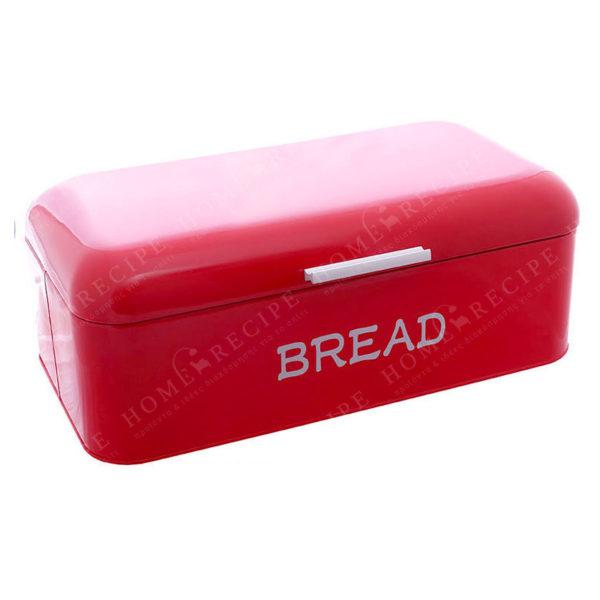 """Ψωμιέρα Μεταλλική Κόκκινη Retro """"Bread"""" 40x22"""