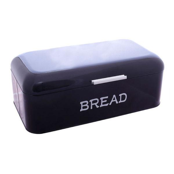 """Ψωμιέρα Μεταλλική Μαύρη Retro """"Bread"""" 40x22"""