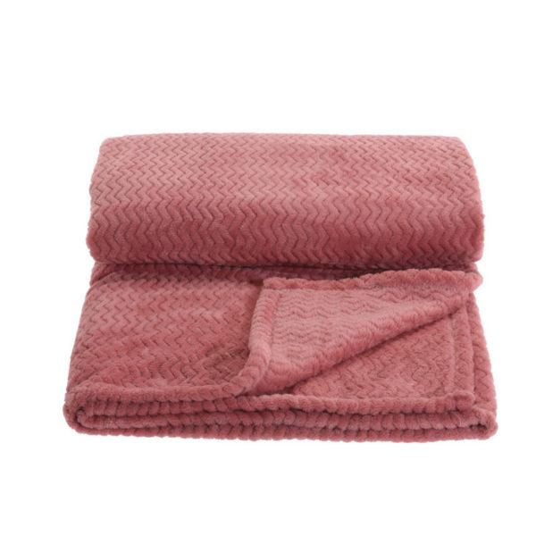 Ριχτάρι Με Βελούδινη Καπιτονέ Γούνα Ροζ 160x130