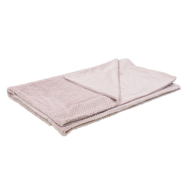 Ριχτάρι Ροζ Γούνινο 'Silver Dot' 150x180