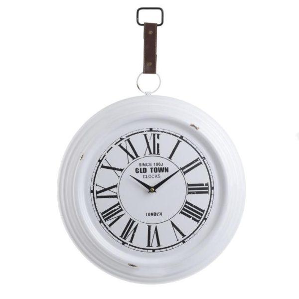 """Ρολόι Μεταλλικό Λευκό/ Μαύρο """"Old Town"""" Δ44"""