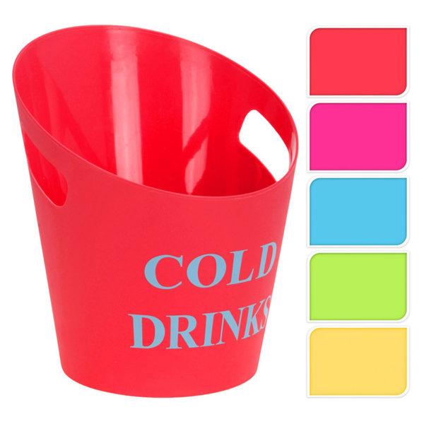 Σαμπανιέρα Πλαστική Cold Drinks Κόκκινο