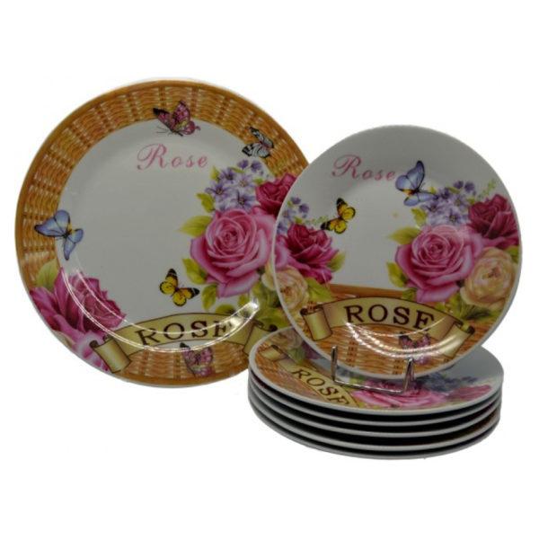 Σετ Πάστας 7 Τεμαχίων Rose, Σχέδιο Λουλούδι Και Πεταλούδα