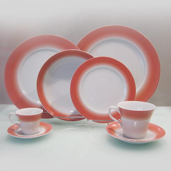 Σετ Πιάτων 20 Τεμαχίων Κόκκινο Bonito